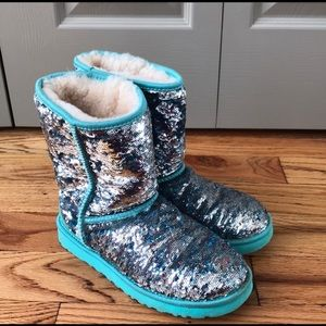 Mermaid reversible sequins ugg boots